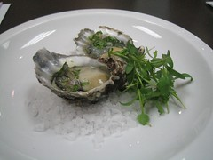 Kumamoto Oysters on the Half Shell with an Asian Inspired Mignonette