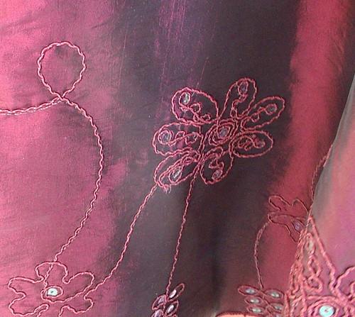 detail of dress