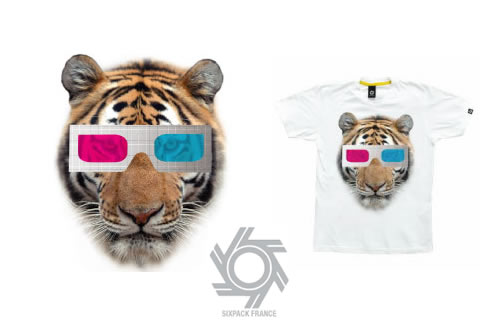 Leo Vernhet Tiger T-Shirt - Sixpack
