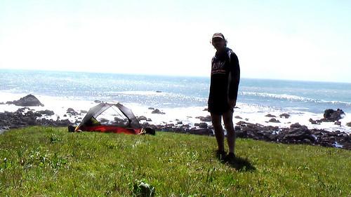 Rick hiking the Lost Coast Trail, California