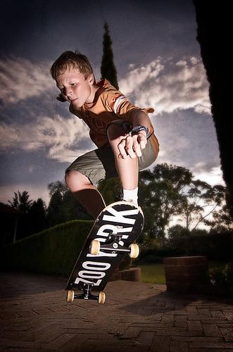 Tim Skateboarding Portrait