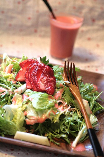 Spring Salad with Strawberry Vinaigrette