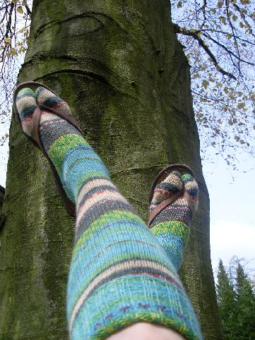 "Hundertwasser Stockings ""Der Blaue Mond"""