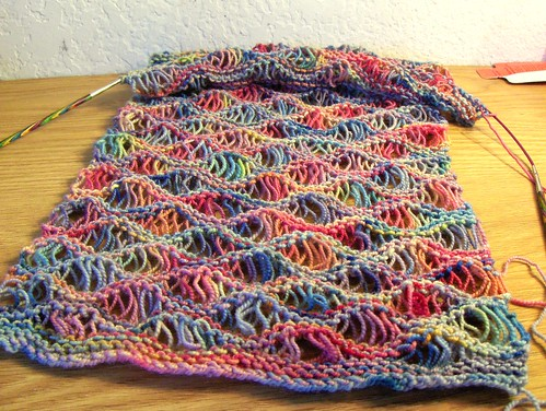 Denim Rainbow Scarf in Koigu KPPPM P114