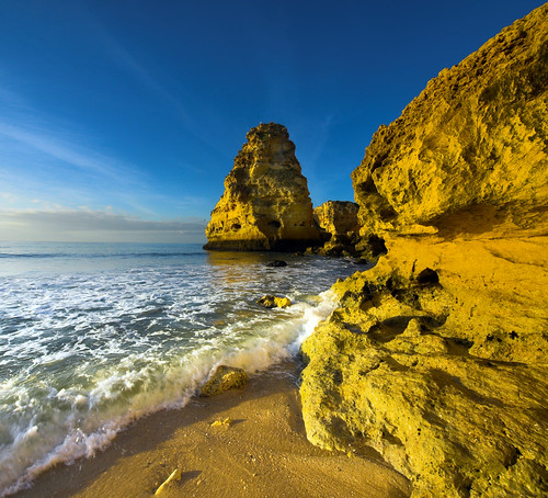 Marinha in the morning sun, Portugal