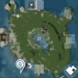 Second Life : Map of Ile Verte (Green Island)