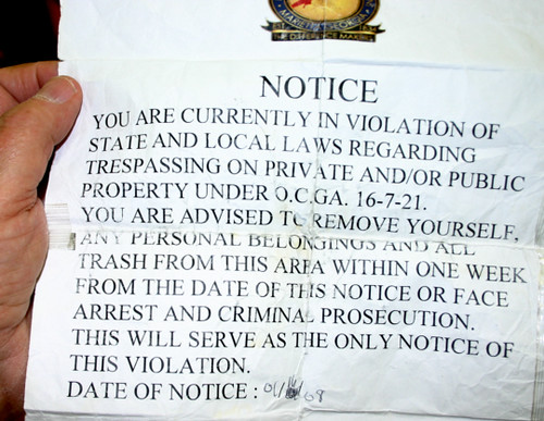 Eviction Notice by MPD