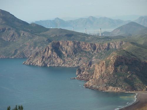 Vista de la bahía de portman durante la ascensión a cenizas