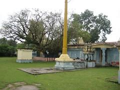 Dwajasthambam, Eranzhil Tree, Bali Peetam and Nandhi Mandapam