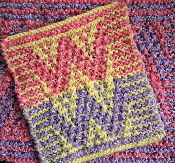 Swatch for Mosaic Baby Blanket
