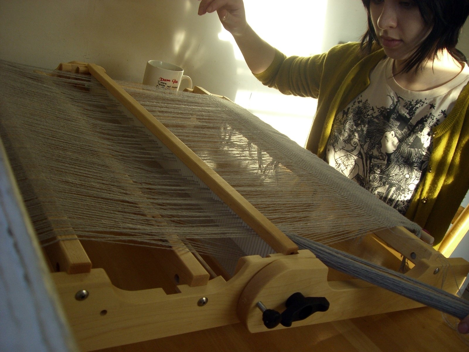 Me at the loom