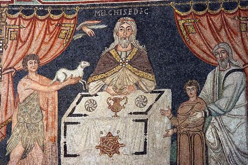 Presbytery Mosaic: Sacrifice. Photograph by Holly Hayes.
