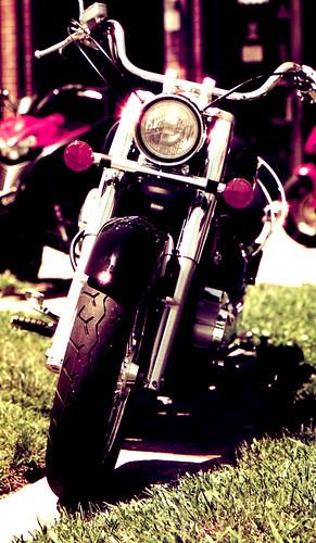 Redscale Bike. (Fuji Superia Reala 100 — Redscaled. Nikon F100. Epson V500.)