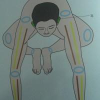 YOGA_起重機式(Crane Pose; Bakasana)