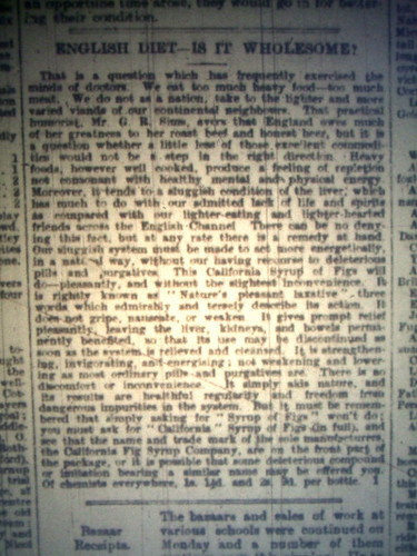 Newspaper article from 1898, spotted yesterday while searching through archives. Apologies for the quality of photograph - it was snapped on a microfiche.