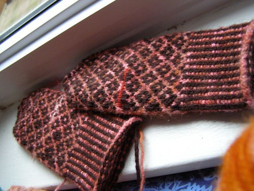 halland mittens in progress