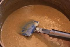 Melted chocolate pumpkin mixture