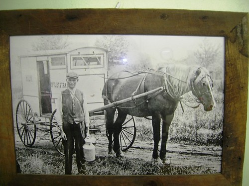 My Fathers Grandfather and his milk truck. One of my many relatives who came on the boat from Holland