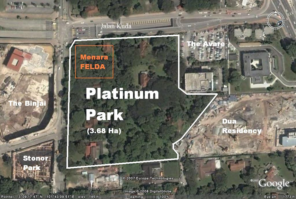 Platinum Park_map