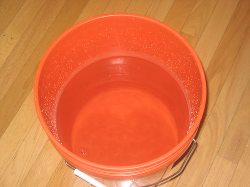 Empty bucket of water