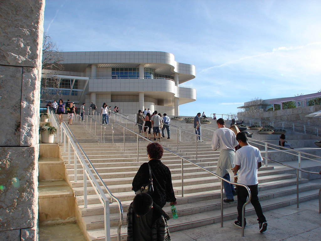 The Getty entrance