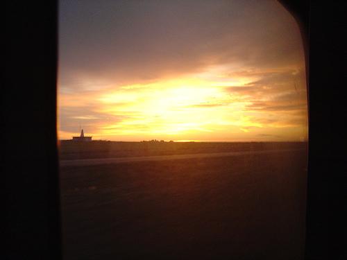 amanecer en el tren