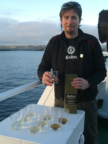 Worlds Southernmost Whisky Tasting: 65 deg 14 S