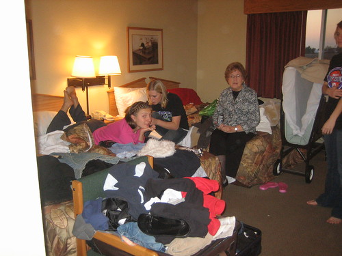 crowded hotel room