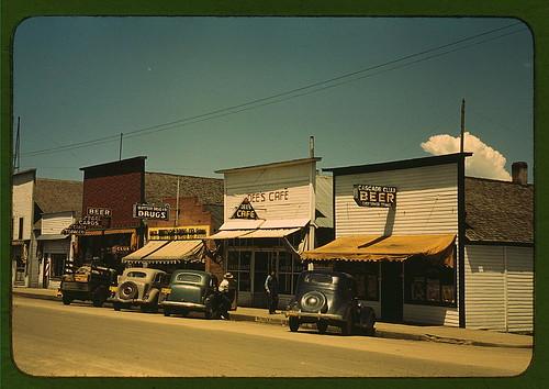 On main street of Cascade, Idaho
