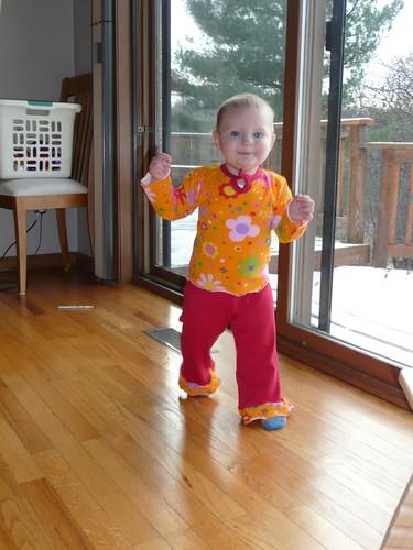 Ella in Sophia's outfit.