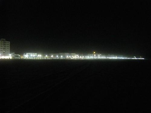 lights on the board walk