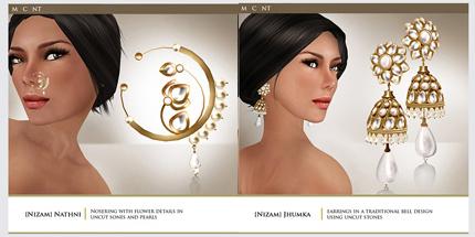 Zaara Nizam Nosering/Earings