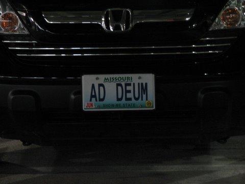 unto God number plate