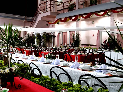tropical sun wedding reception