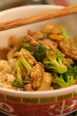 Pork and broccoli stir-fry