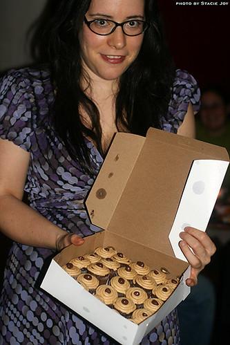 With Kumquat Cupcakery's peanut butter chocolate cupcakes