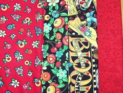 Mary Engelbreit Fabrics-flowers-reds-bloom where you are planted