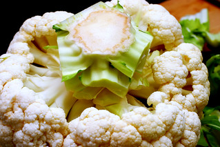 taking apart cauliflower