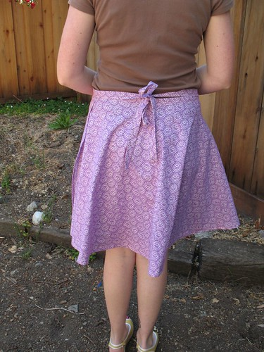 wrap skirt back view