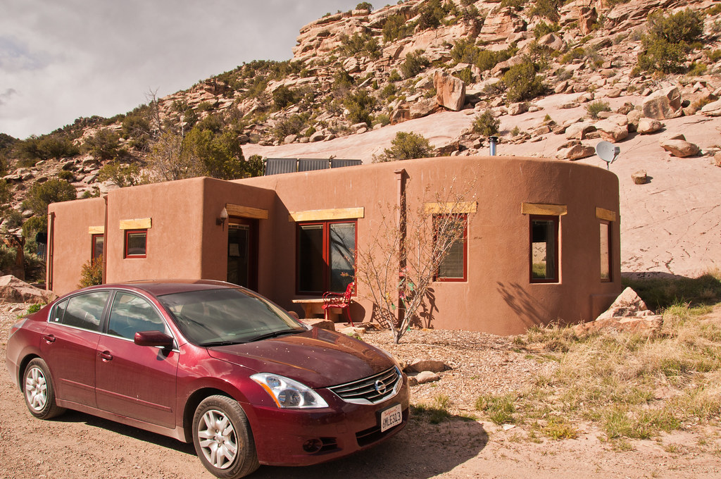Our casita at Trail Canyon (and our hire car)