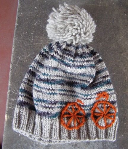 i like to ride my bicycle hat - flat