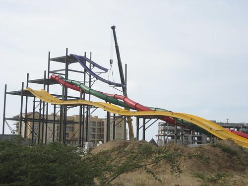 Crane Lifting Slide At Morgan's