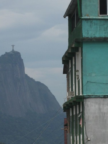 Christ the Redeemer from a favela
