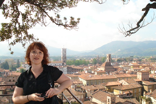 On top of the Guinigi Tower