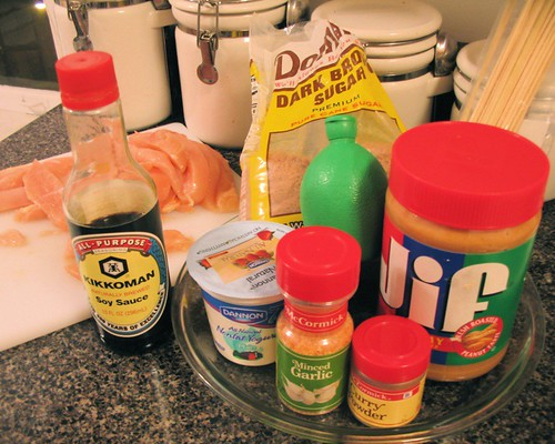 Chicken Satay and Peanut Sauce Ingredients