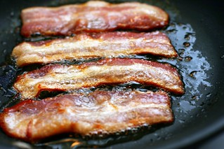 bacon sizzling
