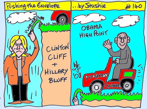 Hillary and Obama cartoon