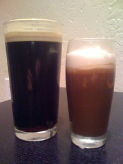 Guiness and Guiness pudding