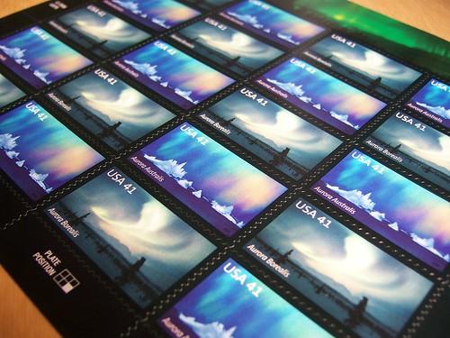 polar lights stamps postage