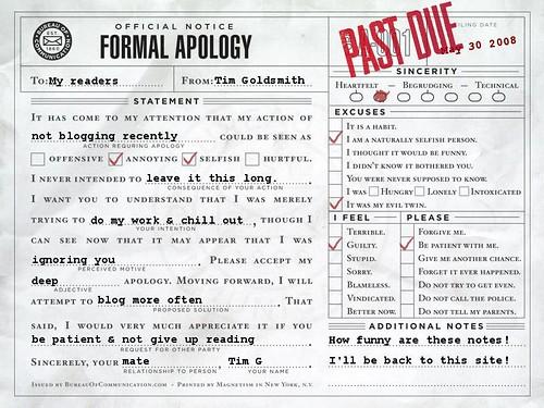 apology